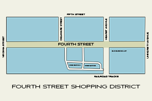 Fourth Street Map.