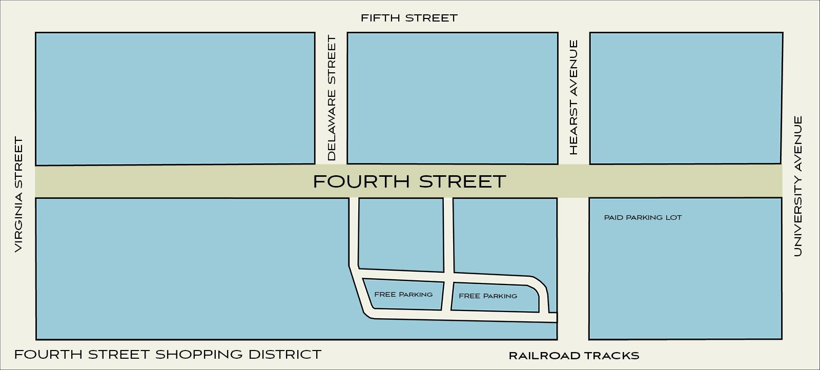 Map of Fourth Street Berkeley CA
